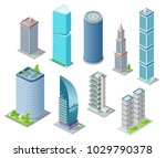 isometric 3d buildings and city ... | Shutterstock .eps vector #1029790378