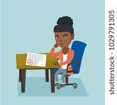 african american student...   Shutterstock .eps vector #1029791305