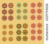 ogwheel colorful set of six... | Shutterstock .eps vector #1029793036