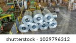 steel coils in a warehouse ... | Shutterstock . vector #1029796312