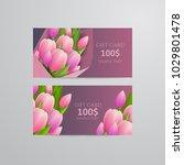 vector gift voucher template... | Shutterstock .eps vector #1029801478