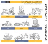 special agricultural machinery... | Shutterstock .eps vector #1029801685