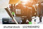 cinema camera on film set ...   Shutterstock . vector #1029804892