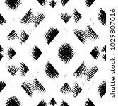 grunge halftone black and white ... | Shutterstock . vector #1029807016