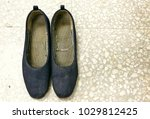 old lady blue shoes on the... | Shutterstock . vector #1029812425