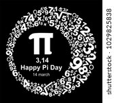 happy pi day  celebrate pi day. ... | Shutterstock . vector #1029825838