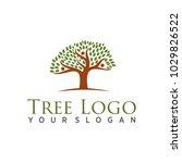 tree logo  vector   Shutterstock .eps vector #1029826522