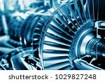 turbine engine profile. ... | Shutterstock . vector #1029827248