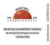 set of basketball   badge  logo ... | Shutterstock .eps vector #1029829216