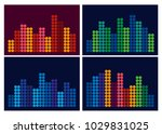 a musical equalizer from small... | Shutterstock .eps vector #1029831025