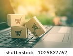 online shopping   ecommerce and ... | Shutterstock . vector #1029832762