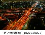highway junction night view | Shutterstock . vector #1029835078