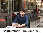 dissatisfied man losing at... | Shutterstock . vector #1029835258