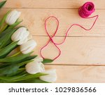 white tulips on march 8 from...   Shutterstock . vector #1029836566