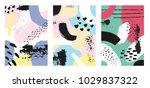 hand drawn textures. set of... | Shutterstock .eps vector #1029837322