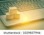 online shopping   ecommerce and ...   Shutterstock . vector #1029837946