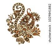 paisley flower pattern in... | Shutterstock .eps vector #1029841882