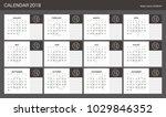 2018 calendar planner design. | Shutterstock .eps vector #1029846352