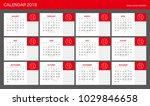 2018 calendar planner design. | Shutterstock .eps vector #1029846658