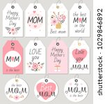 set of happy mother's day gift... | Shutterstock .eps vector #1029846892
