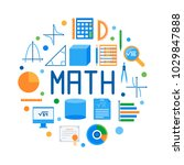 math round flat vector modern... | Shutterstock .eps vector #1029847888