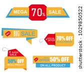 stickers  price tag  banner ... | Shutterstock . vector #1029850522