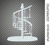 eps10. white spiral staircase ... | Shutterstock .eps vector #1029852952