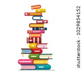 books stack isolated on white... | Shutterstock .eps vector #1029854152