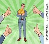 pop art happy businessman... | Shutterstock .eps vector #1029854626