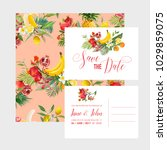 wedding invitation template set ... | Shutterstock .eps vector #1029859075