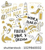 various object in doodle style   Shutterstock .eps vector #1029860032