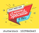 Weekend Specials  Sale Banner...