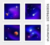 colorful universe backgrounds ... | Shutterstock .eps vector #1029860836