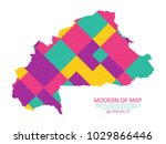 map of burkina faso   modern...   Shutterstock .eps vector #1029866446