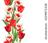 seamless border with red and... | Shutterstock .eps vector #1029871528