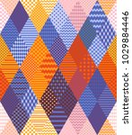 bright patchwork pattern from... | Shutterstock .eps vector #1029884446