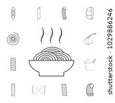 spaghetti on a plate icon.... | Shutterstock .eps vector #1029886246