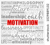 motivation word cloud collage ... | Shutterstock .eps vector #1029889132