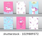set of cute fantasy poster... | Shutterstock .eps vector #1029889372