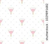 cute strawberry ice cream in...   Shutterstock .eps vector #1029891682