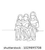 vector  sketch of children...   Shutterstock .eps vector #1029895708