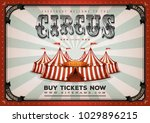 vintage circus poster... | Shutterstock .eps vector #1029896215