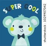 cute monkey illustration as... | Shutterstock .eps vector #1029907042