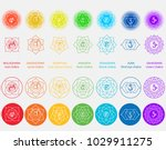 vector symbol set of chakras.... | Shutterstock .eps vector #1029911275