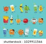 funny best friends food... | Shutterstock .eps vector #1029911566