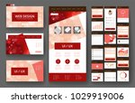 website template  one page... | Shutterstock .eps vector #1029919006