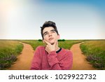 young thinking with options of...   Shutterstock . vector #1029922732