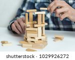 man  engineer  building up... | Shutterstock . vector #1029926272