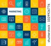 vector marketing line icons.... | Shutterstock .eps vector #1029926776