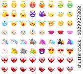 ultimate set of modern emojis ... | Shutterstock .eps vector #1029927808